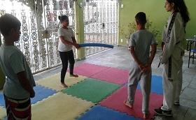 inicio da oficina de Taekwondo.