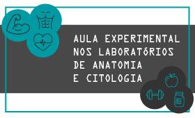 Aula Experimental nos laboratórios de anatomia e citologia